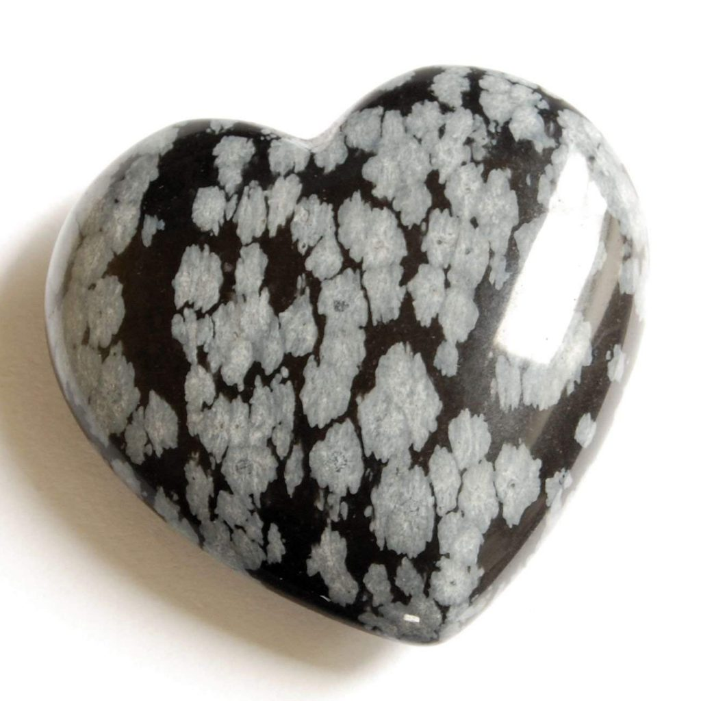 Corazon de obsidiana nevada